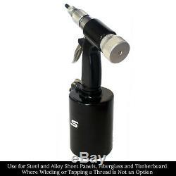 Nutsert / Rivnut Air Hydraulic Pneumatic Pop Rivet Nut Sheet Metal Gun Tool Kit