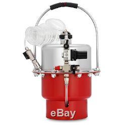 Pneumatic Air Pressure Brake Bleeder Kit Portable Tool Connector Garage