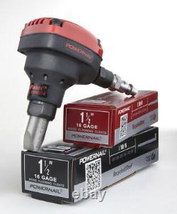Power Nail Pneumatic Hardwood Flooring Cleat Nailer Tool 16 18-Gauge L