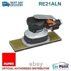 Rupes RE21AL Orbital Pneumatic Hook & Loop Palm Sander 70x198mm 3mm Flat Bed