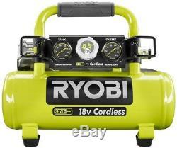 Ryobi Air Compressor Tool 18-V Cordless 1 Gal. Portable Rubber Over Molded