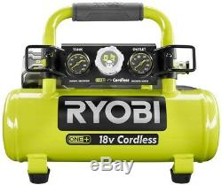 Ryobi Portable Air Compressor 18-V Tire Inflation 1 Gal Cordless Tool Only
