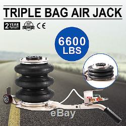 Triple Bag Air Jack Pneumatic Jack 6600LBS Jacking Tool Heavy Duty Lift Jack