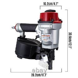 VEVOR CN55 Coil Nailer, 2-1/4 15 Deg. Pneumatic Roofing Siding Nailer Nail Gun