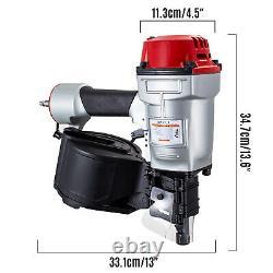 VEVOR CN70 Pneumatic Coil Nailer 1-3/4 to 2-3/4 15 Deg. Roofing Siding Nailer