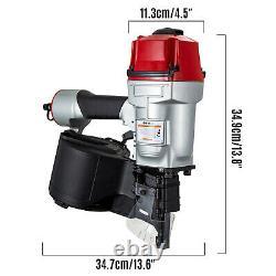 VEVOR CN80 Coil Nailer 3-1/4 15 Deg. Pneumatic Roofing Siding Nailer Nail Gun